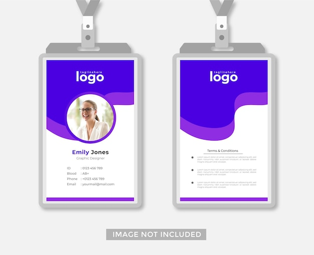 Vetor de estilo abstrato de design de cartão de identificação comercial ou de escritório