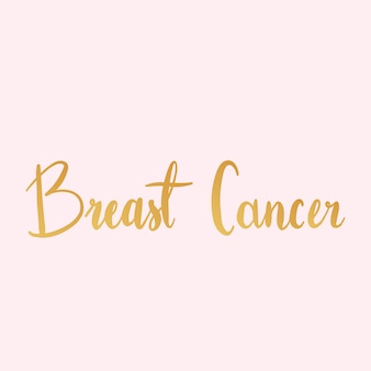 Vetor de estilo de tipografia de câncer de mama