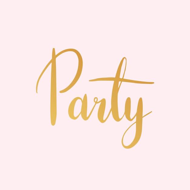 Vetor de estilo de tipografia festa celebração