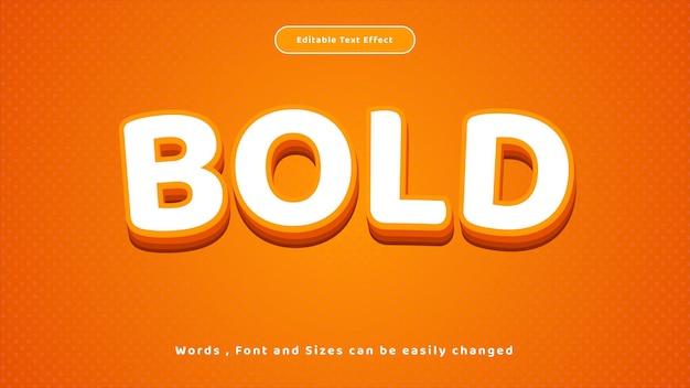 Vetor de estilo laranja em negrito de efeito de texto editável