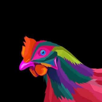Vetor de estilo pop art galo colorido