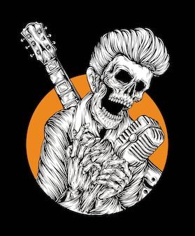 Vetor de estrela do rock