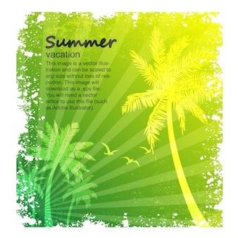 Vetor de férias de verão