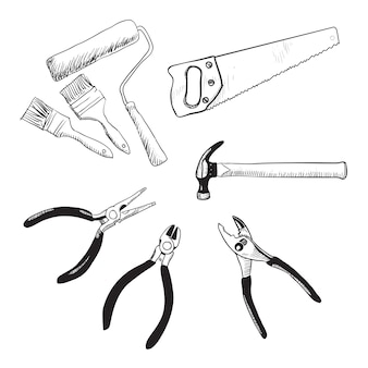 Vetor de ferramentas em casa