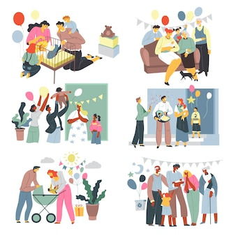 Vetor de festa e comemoração de aniversário de criança
