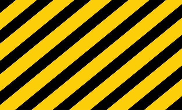 Vetor de fita de advertência preto e amarelo