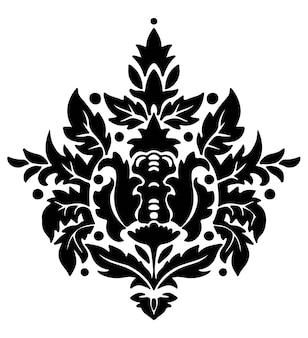 Vetor de flores de damasco, ornamentos barrocos ou rococó Vetor Premium