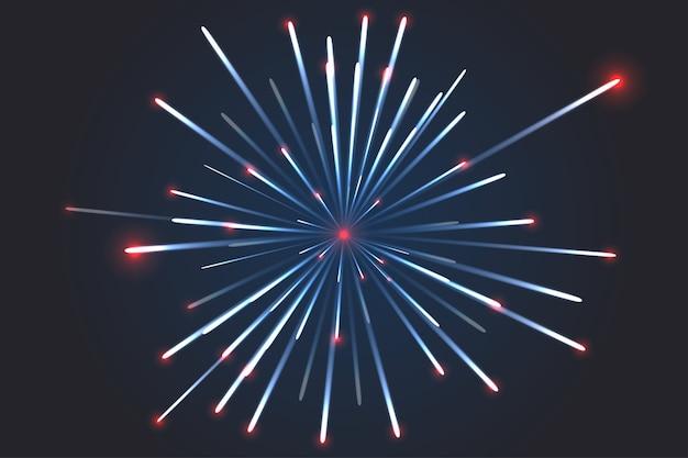 Vetor de fogo de artifício. origens de linhas de futurismo, abstratas