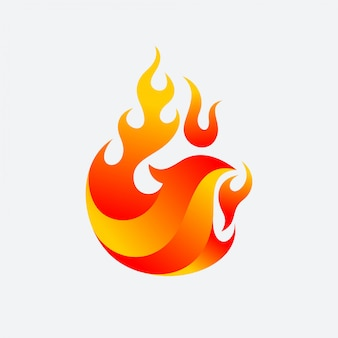 Vetor de fogo phoenix