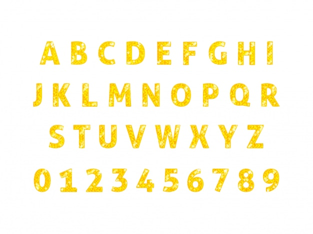 Vetor de fonte de alfabeto diamante isolado