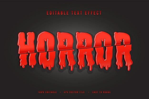 Vetor de fonte decorativa de terror e alfabeto de halloween