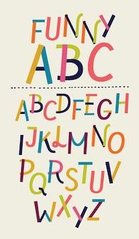 Vetor de fonte e alfabeto de papel moderno
