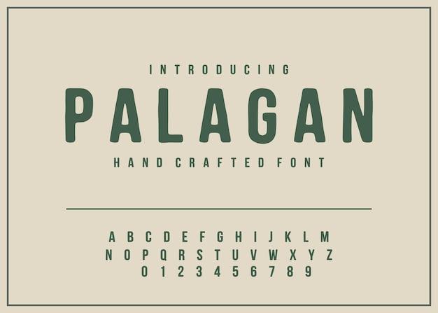 Vetor de fonte vintage do alfabeto de fontes feitas à mão