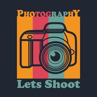 Vetor de fotografia. vamos filmar