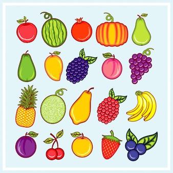 Vetor de frutas frescas