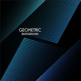 Vetor de fundo abstrato colorido linhas geométricas