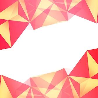 Vetor de fundo abstrato colorido polígono
