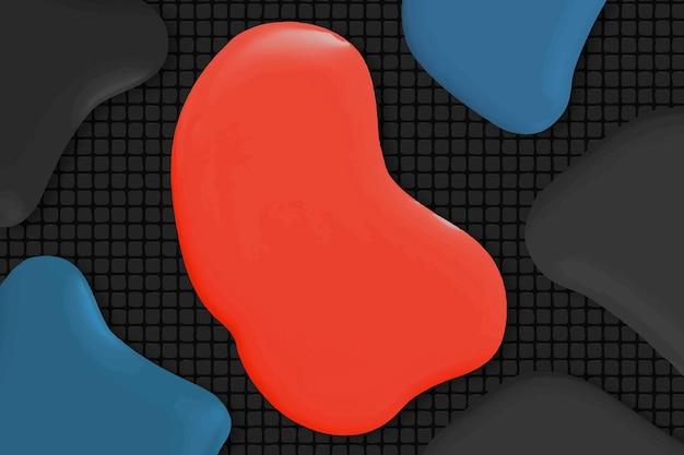 Vetor de fundo abstrato de tinta vermelha em arte criativa em estilo moderno