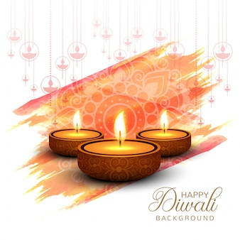 Vetor de fundo abstrato feliz diwali festival cartão