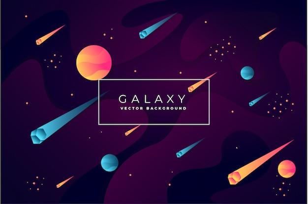 Vetor de fundo abstrato galáxia