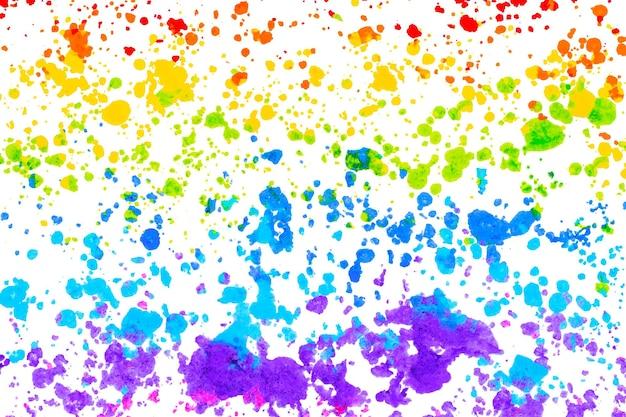 Vetor de fundo arco-íris com arte em giz de cera derretido