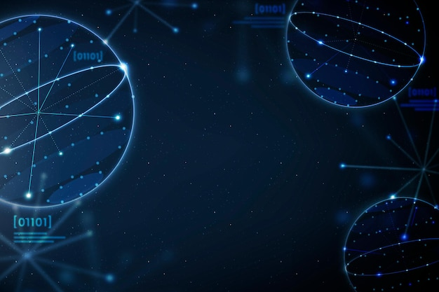 Vetor de fundo azul de educação de geometria remix digital perturbador de educação