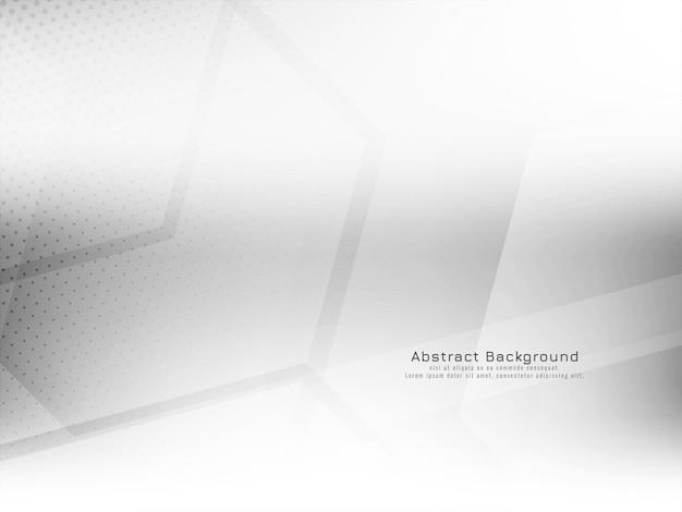 Vetor de fundo branco de conceito de estilo hexágono geométrico abstrato