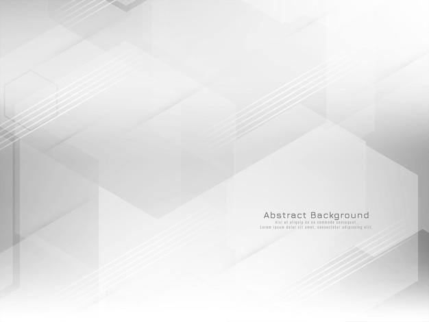 Vetor de fundo branco de estilo hexágono geométrico abstrato