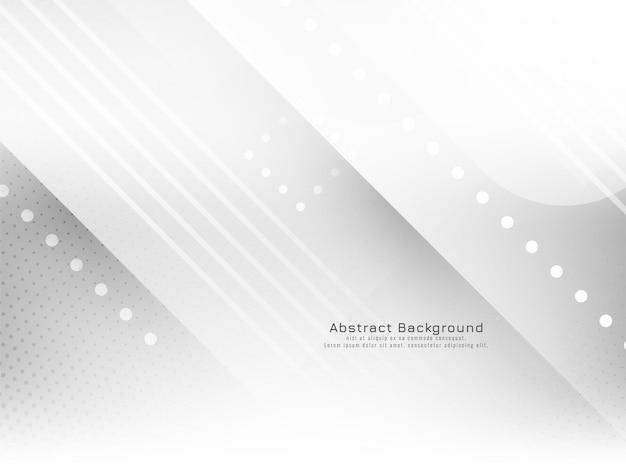 Vetor de fundo branco elegante com listras geométricas brilhantes