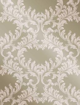 Vetor de fundo brilhante de padrão barroco. texturas de decoração de ornamento vintage