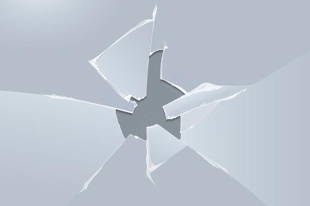 Vetor de fundo cinza com efeito de vidro quebrado