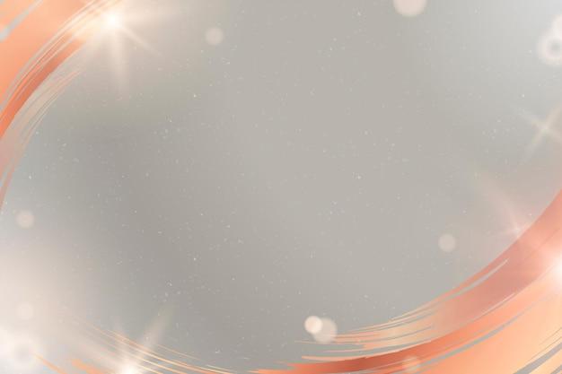 Vetor de fundo cinza com moldura de borda de pincelada de cobre
