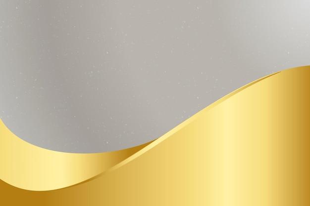 Vetor de fundo cinza com onda dourada
