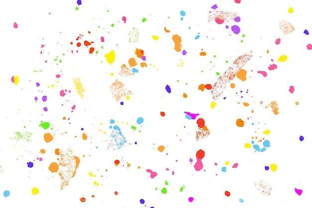 Vetor de fundo colorido com arte em giz de cera derretido