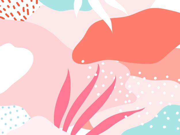 Vetor de fundo colorido design de memphis