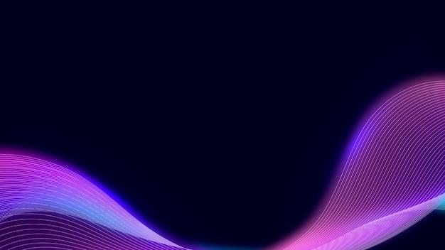 Vetor de fundo com padrão de néon rosa synthewave