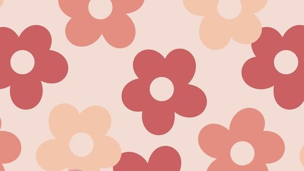 Vetor de fundo com padrão floral de costura rosa
