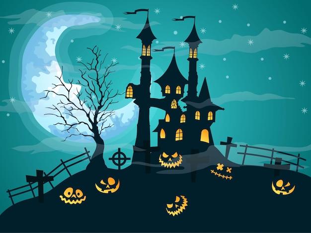 Vetor de fundo da noite de halloween