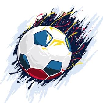 Vetor de fundo de bola de futebol