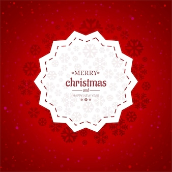 Vetor de fundo de cartão feliz natal