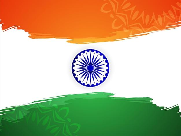 Vetor de fundo de celebração do dia da independência do tema da bandeira indiana