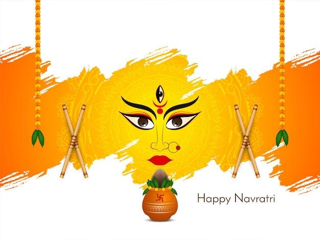 Vetor de fundo de celebração do festival religioso feliz navratri