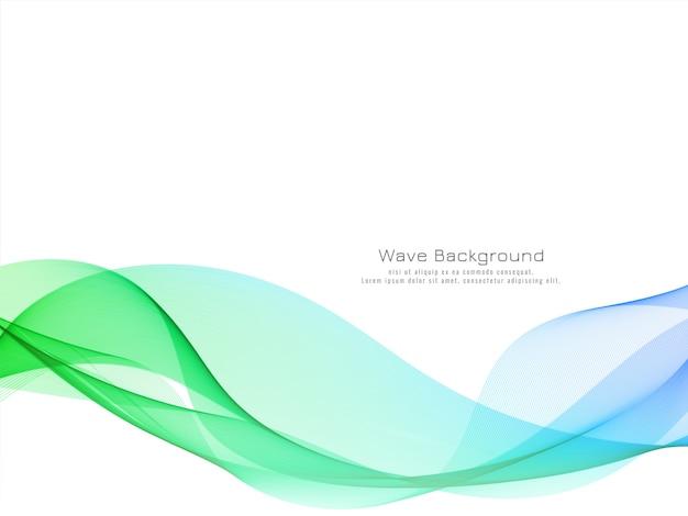 Vetor de fundo de design moderno de onda colorida