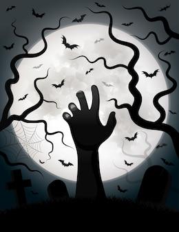 Vetor de fundo de dia das bruxas