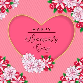 Vetor de fundo de dia das mulheres felizes