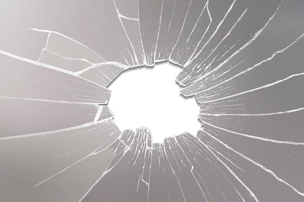 Vetor de fundo de espelho rachado vidro estilhaçado