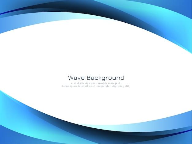 Vetor de fundo de estilo de onda azul abstrato