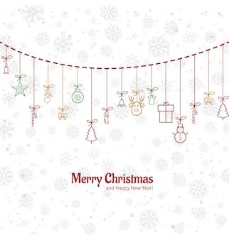 Vetor de fundo de feliz natal de cartão beauitful