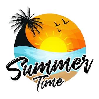 Vetor de fundo de férias de verão