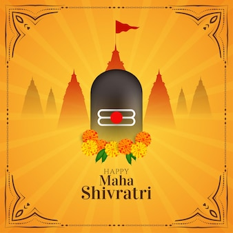 Vetor de fundo de festival tradicional feliz maha shivratri